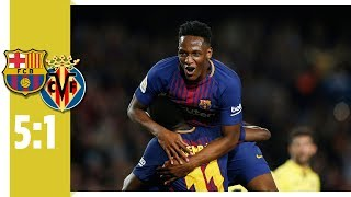 Erster Dembélé-Doppelpack für Barca | Barcelona - Villareal 5:1 | Highlights