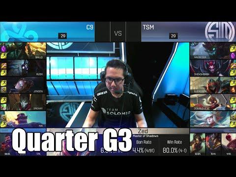 Cloud 9 vs TSM | Game 3 Quarter Finals S6 NA LCS Spring 2016 Playoffs | C9 vs TSM (team Solomid) G3