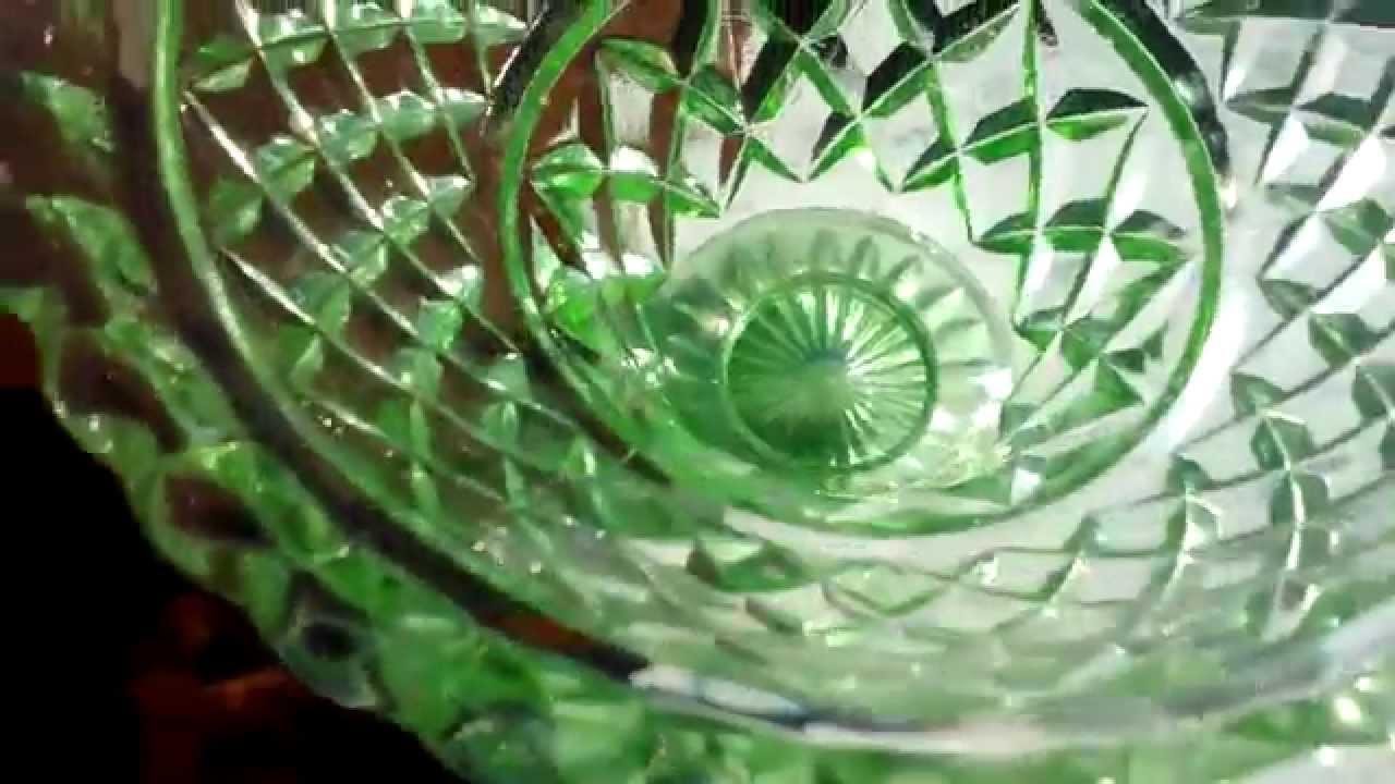 Green depression glass vase insert frog youtube reviewsmspy