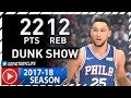 Ben Simmons Full Highlights vs Clippers (2017.11.13) - 22 Pts, 12 Reb, DUNKFEST!