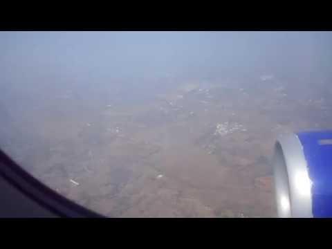 Indigo Flight Landing At Hyderabad Shamshabad Airport , Telangana state, Scenic Views from Airplane