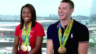 Olympics   Simone Manuel, Ryan Murphy Interview on Rio Wins