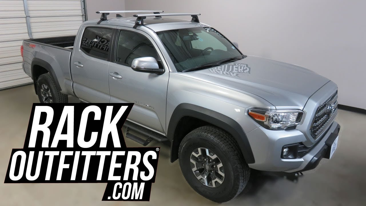Toyota Tacoma With Yakima Baseline Jetstream Roof Rack Crossbars
