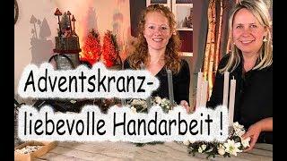 Floristik24 Adventskranz selber machen Weihnachtsdeko & 4 Kerzen