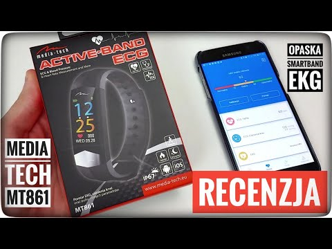 Opaska Typu Smartband Active-Band ECG MT861 Media-Tech Z Pomiarem EKG RECENZJA | ForumWiedzy