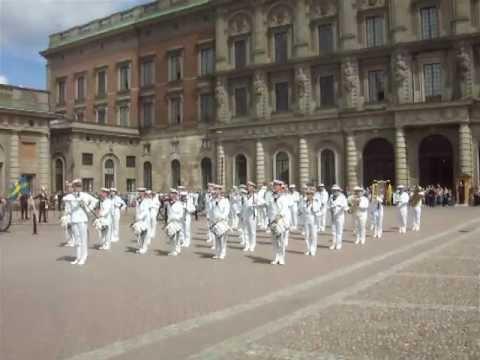 """Royal Swedish Navy Cadet Band 2012 """"Voulez Vous"""" At The Royal Palace"""