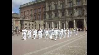 "Royal Swedish Navy Cadet Band 2012 ""Voulez Vous"" At The Royal Palace"