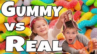NEW!! Gummy vs Real Part 2