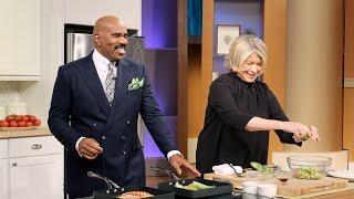 Martha Stewart Cooks Steve Harvey's Birthday Meal