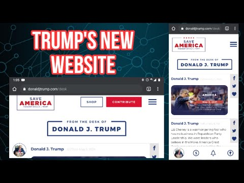 ?? From the Desk of Donald J. Trump - Website Review of Trump's New Website!