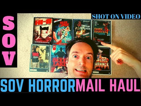 SOV Horror Shot On Video DVD Mail Haul Review Video! VHS DVD Blu-ray Collection Update