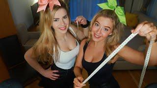 ASMR Girls Next Door MEASURE A GIANT!! | Measuring You Roleplay