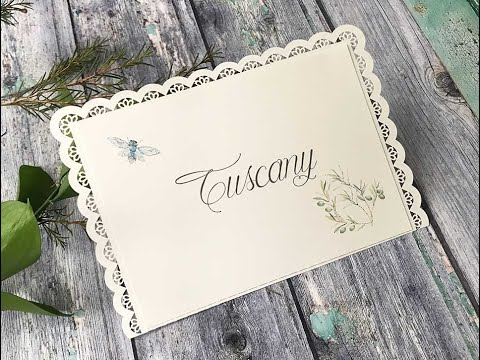 DIY Wedding Table Name Card – How to make pretty summer wedding Table Name Cards