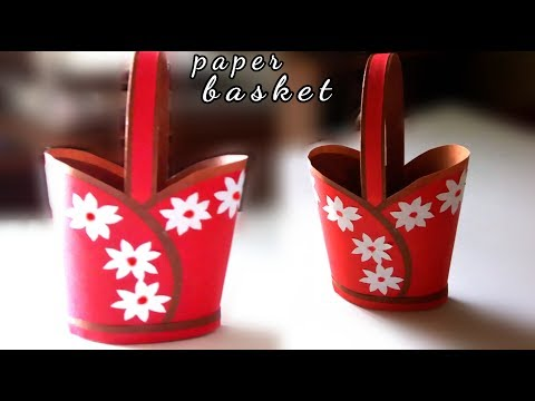 simple paper basket craft / handmade paper basket easy / paper craft