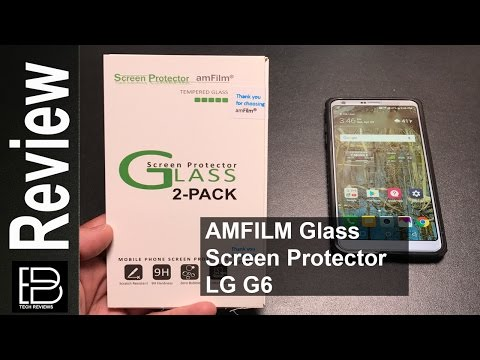 LG G6: Glass Screen Protector from AMFILM dust & bubble free case friendly!