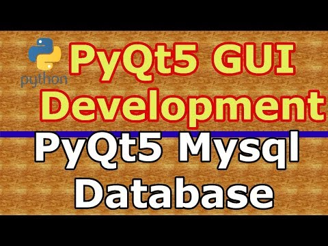 How To Connect PyQt5 Application With Mysql Database - Code Loop