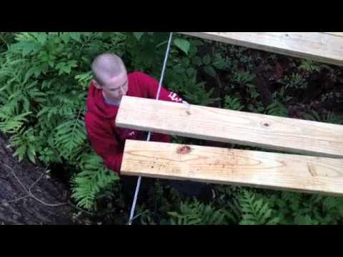 Backyard Rope Bridge backyard suspension bridge - youtube