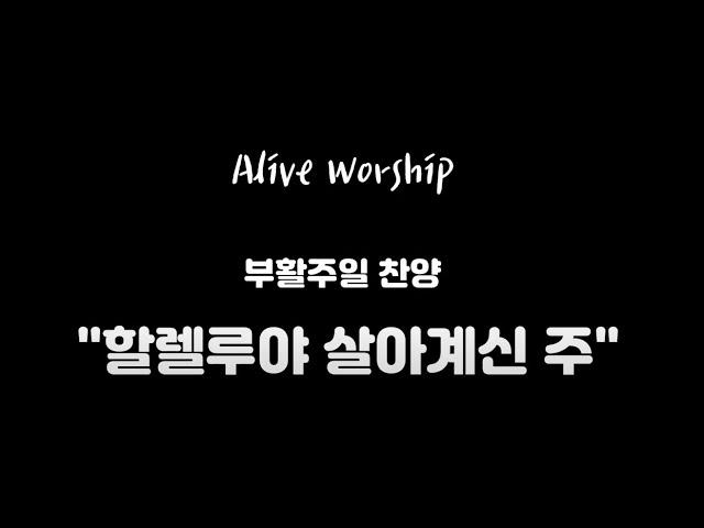 """Alive Worship: 부활주일 찬양 """"할렐루야 살아계신 주"""""""