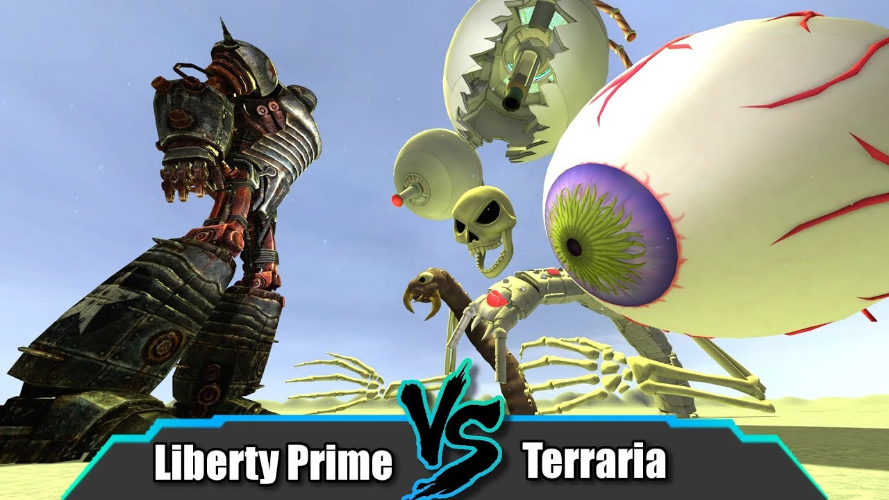 Garry's Mod | Liberty Prime Vs Terraria SNPCs | NPC Deathmatch