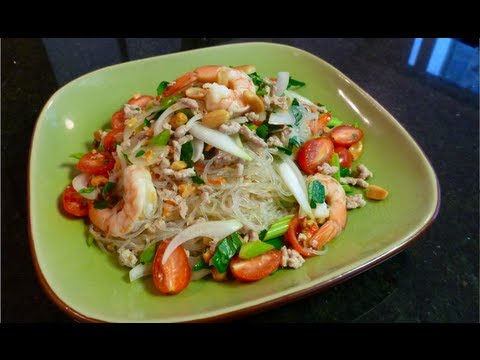 Glass noodle salad recipe yum woon sen hot - Thailand cuisine recipes ...