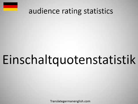 How to say audience rating statistics in German?