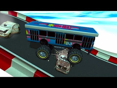 Crazy Monster Bus Stunt Race 2 Android Gameplay | 1080p review video
