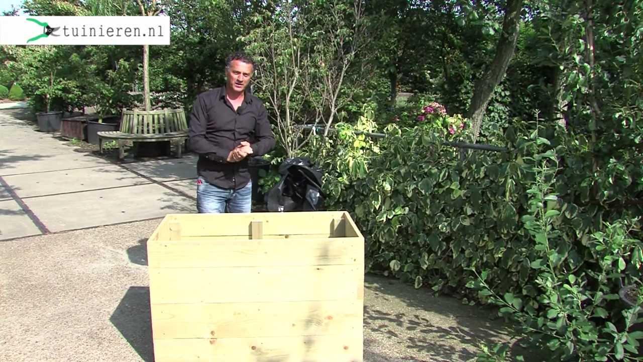 Hoe kan ik een houten bloembak maken?   tuinieren.nl   youtube