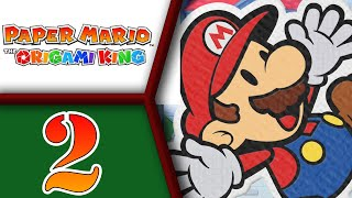 Paper Mario: The Origami King playthrough pt2 - Healing Waters, Rescuing Toads and Town Arrival