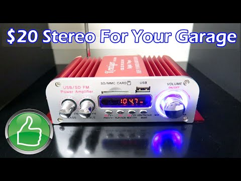 $17 Stereo For Your Garage - Great Buy!