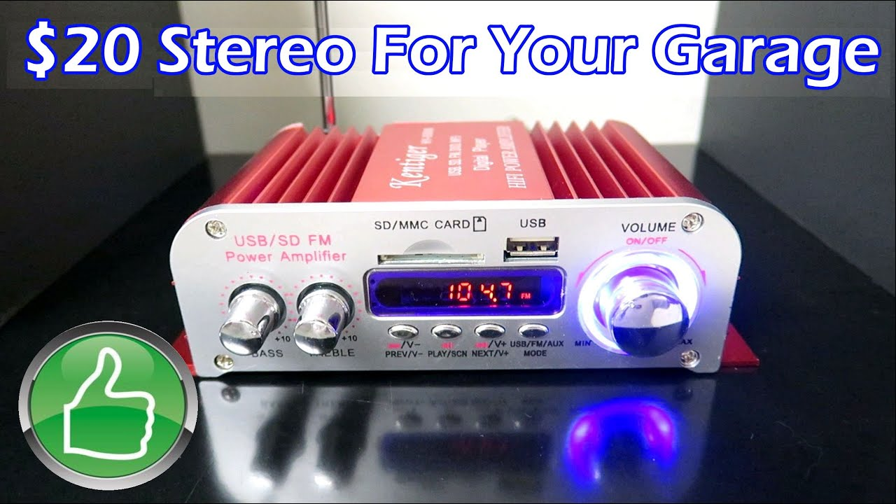 17 Stereo For Your Garage Great Buy Youtube Audio Amplifier Gt Power High