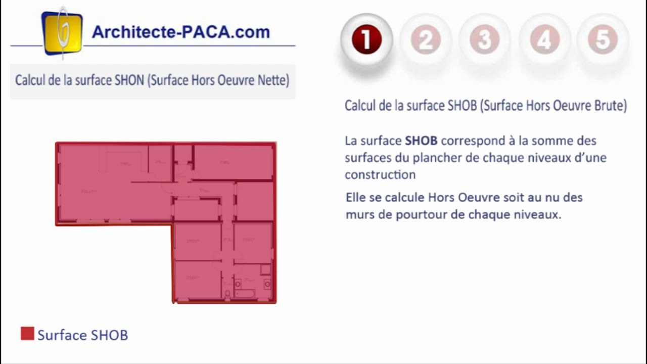 shon shob calcul dfinition surface hors oeuvre nette architecte pacacom youtube - Comment Calculer Surface Habitable Maison