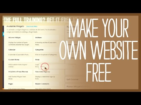 How to make your own website for free - BEST TUTORIAL