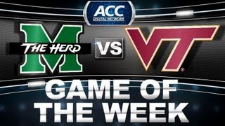 Game of the Week | Marshall vs Virginia Tech | ACCDigitalNetwork