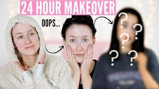 24 HOUR MAKEOVER! Accidentally Dyeing My Hair BLACK + Tanning, Skincare, Makeup etc… | Sophie Louise