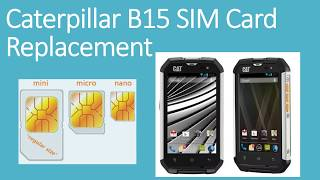 How to insert the sim card - Caterpillar B15