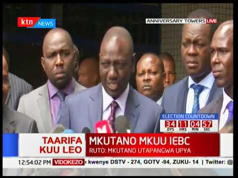 DP William Ruto: Why we did not make it in time for IEBC meeting