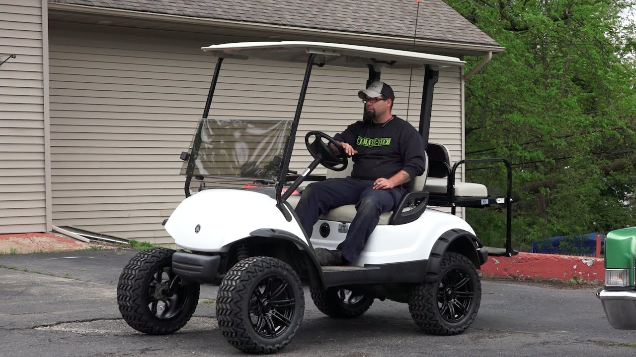 Installing a lift kit on a Yamaha Golf Cart - YouTube on