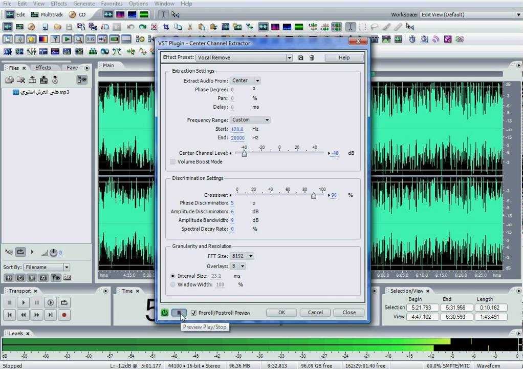 Keep voice, remove background noise and music : Adobe Audition