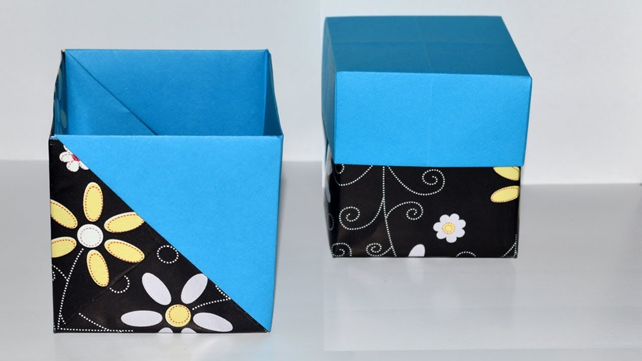 comment fabriquer une boite cadeau facile diy boite origami box youtube. Black Bedroom Furniture Sets. Home Design Ideas