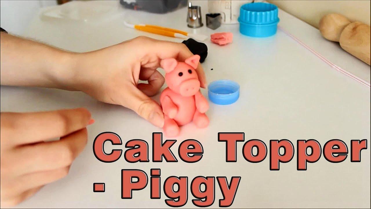 Pig Fondant Cake Topper