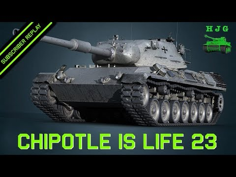 World of Tanks BLITZ - Subscriber Replay - Chipotle is Life 23 - Leopard 1 7k Damage