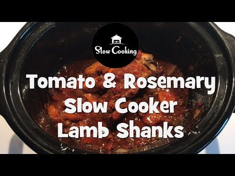 Tomato And Rosemary Slow Cooker Lamb Shanks