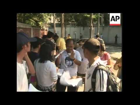 Anti Myanmar protest in Bangkok