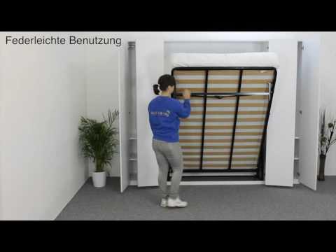 Wandbett / Schrankbett / Klappbett von Wall Bed King - YouTube