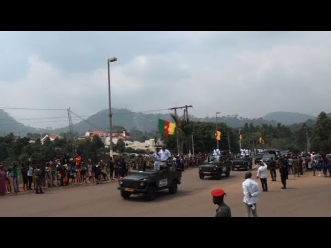 Cameroon's Football Team Delight Fans On Victory Parade