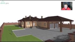 Проект удобного одноэтажного дома с сауной и гаражом  D-232-ТП(, 2017-03-10T07:35:05.000Z)