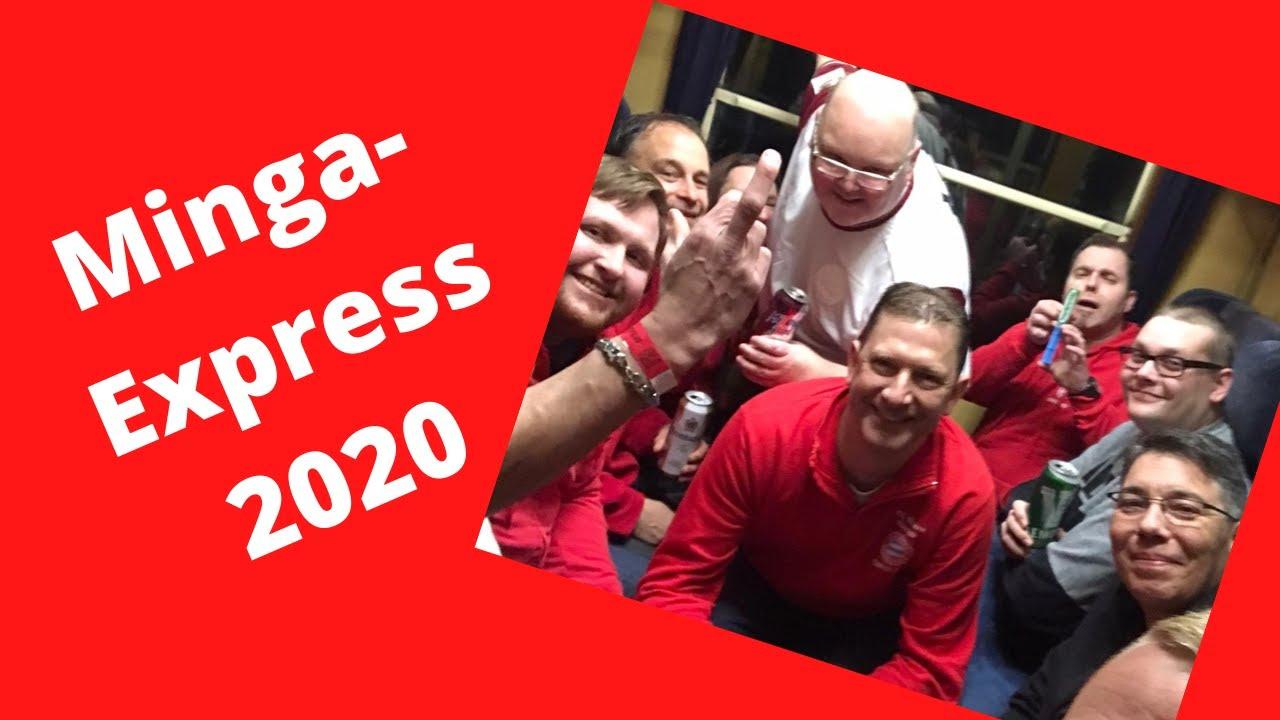 Mingaexpress 2020 Sonderzug zum Spiel FC Bayern München-  FC Augsburg 120 Jahre FC Bayern  Choreo