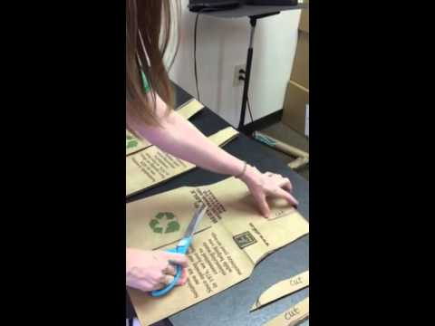 Making a safari vest from paper bag instructional video
