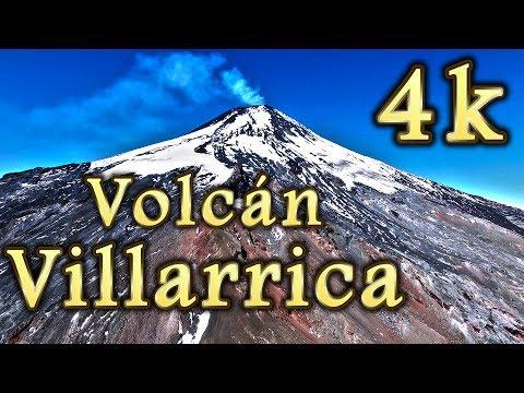 Vista aérea Volcán Villarrica Chile impresionantes imágenes