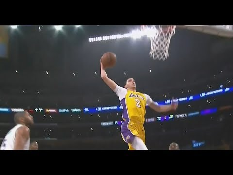 Lonzo Ball MONSTER DUNK And Crossover on Kemba Walker